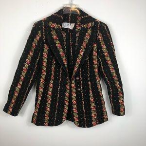 Vintage Leslie Fay Original Velvet Blazer